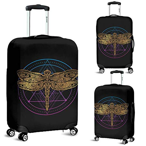 Big Dragonfly Luggage Suitcase Cover Protector Decor Dragonflies Gift Item (Large)