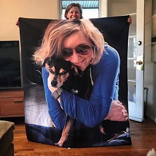 SOUFEEL Personalisierte Kuscheldecke mit Eigenem Foto Bedrucken Warm Weich Dick Fotodecke Bild Selbst Gestalten Geburtstags Freunde Familie Baby Hund