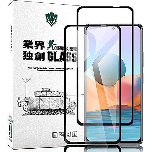 for Redmi Note 10 Pro ガラスフィルム 超薄型 houge【日本製素材旭硝子製 】Note 10 Pro フィルム 強化ガラス 保護フィルム 最高硬度9H/2.5D ラウンドエッジ加工/飛散防止/指紋防止/透過率99%/気泡ゼロ/貼付け