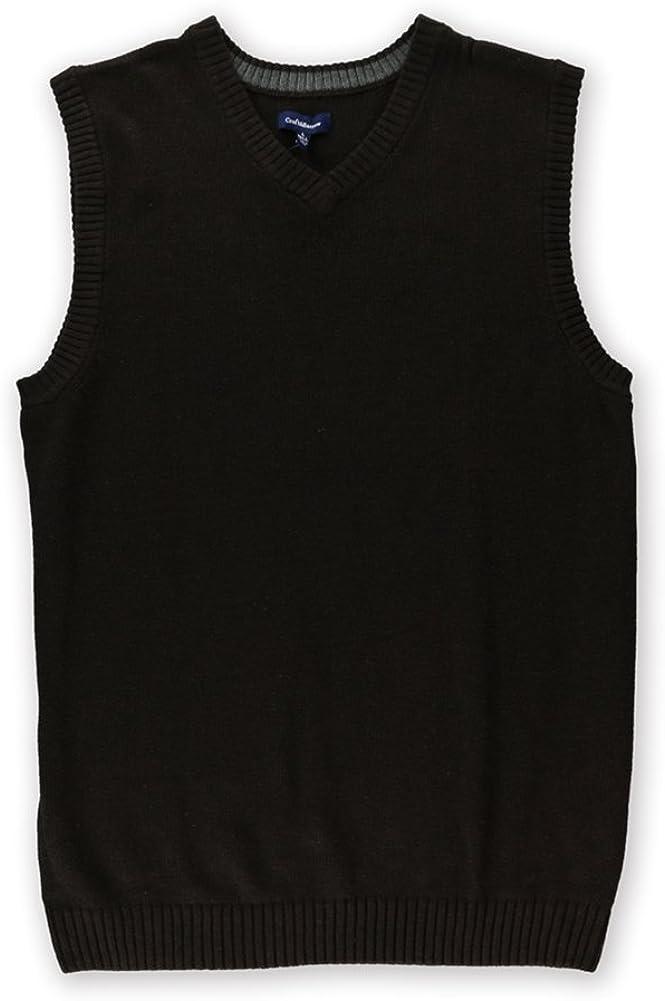 Croft&Barrow Mens Classic Signature Sweater Vest, Brown, LT