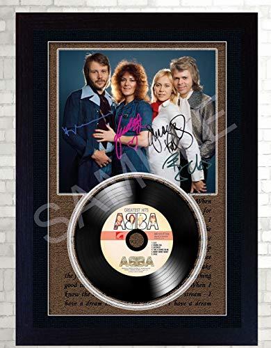 SGH SERVICES NEU! Abba Autogramm-Foto, gerahmt, Vinyl-Schallplatte