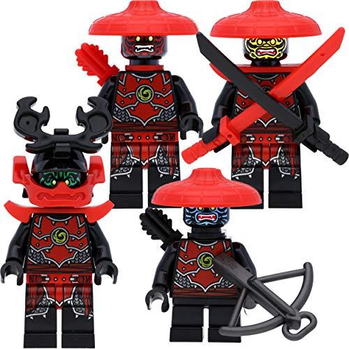 LEGO Ninjago - Juego de minifiguras #11 con 4 luchadores de piedra samurai y accesorios