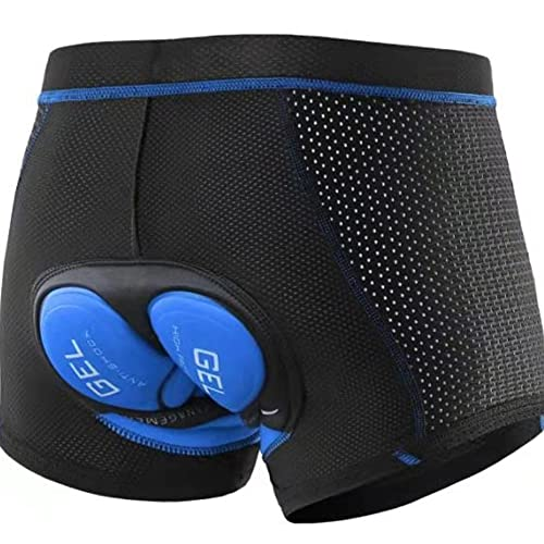 Liuhong Pantalones Cortos de Ciclismo para Hombre (Blue,XXL,XXL)