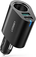 UGREEN Car Charger Adapter 60W Cigarette Lighter Socket Splitter 12V/24V, 30W Dual USB Quick Charge 3.0 3A and 2.4A USB Compatible for iPhone 11 Pro XS MAX XR X 8 7 6 iPad Pro Samsung Galaxy S9 S10 S8