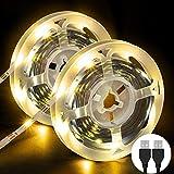 Striscia LED, OMERIL Strisce LED SMD 2835 con 3000K Luce Gialla Calda, Plug 'n' Play, LED Striscia...