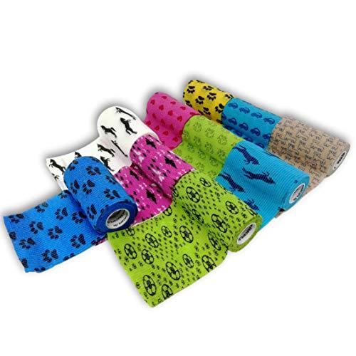 LisaCare® Pflasterverband, Fingerpflaster selbsthaftend - ohne Kleber & elastisch- Wundverband, Fixierverband, Pflaster - 10er Set 10cm x 4,5m grün