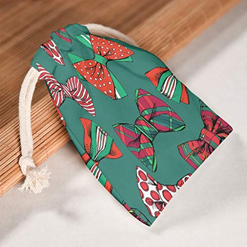 NC83 verpakking van 6 stuks voor het organiseren van het opbergen, trekkoord, opbergtas, ademend, speelgoed-pouch bags Fit Nieuwjaar jubileum geschenken wrap - New Year stijl gedrukt 20 * 25cm wit