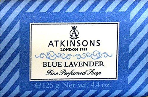 6 x ATKINSONS Saponetta Blu Lavender 125 Grammi