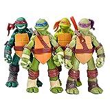 TREEMEN Juegos de juguetes de tortugas ninja, figuras de acción de tortugas ninja mutantes adolescentes figuras de anime modelo de personajes juguetes para niños de 4.8 pulgadas