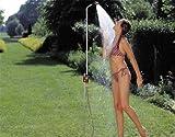 Gardena Gartendusche solo: Dusche mit angenehmem Brausestrahl, Wassermenge stufenlos regulierbar und absperrbar, stufenlose Höhenverstellung bis 207 cm, mit Spike zur Befestigung im Boden (961-20)