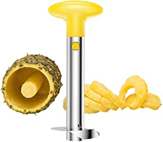 West Ox Pineapple Corer Stainless Steel Pineapple Corer Remover Tool for Home /& Kitchen with Sharp Blade for Diced Fruit Rings