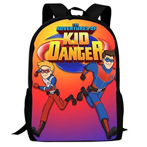 VJSDIUD Henry Danger Kids 3D-Druck Schultaschen Große Schultasche Leichter Schulrucksack Outdoor für Mädchen Jungen