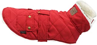 kyeese Dog Jacket for Winter Windproof Size Adjustable Dog Vest Fleece Lined Cold Weather Coats with Leash Hole