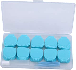 Modsnde Contact Lens Case Deep Well Flip-top Contact Lens Cases Portable Contact Lens Case Travel Kit with Bottle Tweezers Container Holder Waterproof Lenses Display Box