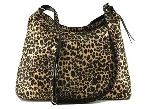 LONI Schultertasche, Hobo-Tasche, Leopardenmuster, Schlangenlederimitat, - leopard - Größe: Large