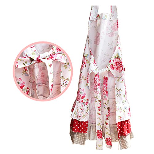 Lovely Classic Style Women's Cooking Baking Apron with Pockets Great Gift For Wife Ladies (Adult Women Aprons)