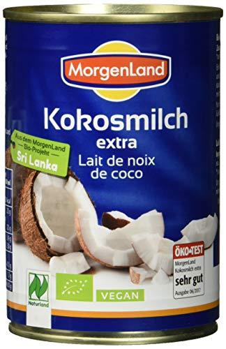 MorgenLand Bio-Kokosmilch extra - Ökotest sehr gut, 6er Pack (6 x 400 ml)