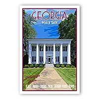 GEORGIA TRAVELポスターポストカード20枚セット 同じポストカード20枚セット GA州ヴィンテージスタイル 旅行ポスターポストカード 米国製