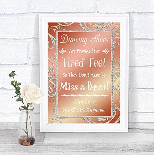 Koraal Roze Flip Flops Sandalen Voor Moe Voeten Gepersonaliseerde Bruiloft Teken Print Framed White Medium Kleur: wit