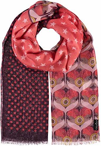 FRAAS Schal mit 3-geteilten-Print aus Polyester Koralle