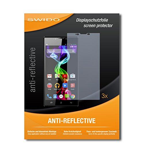 SWIDO Displayschutzfolie für Archos 55 Platinum [3 Stück] Anti-Reflex MATT Entspiegelnd, Extrem Kratzfest, Schutz vor Kratzer/Displayschutz, Schutzfolie, Panzerfolie