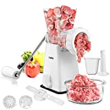 Manual Meat Grinder with Stainless Steel Blades Heavy Duty Powerful Suction Base for Home Use Fast...
