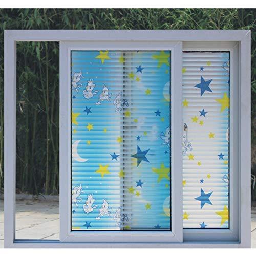 HLD Glazen deuren en ramen Paper Stickers Papier Waves From The Balcony Window Stickers Company Window Film Raamfoliën (Color : I)