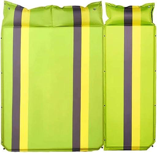 Tapis Gonflable Tente Pique-Nique en Plein air Matelas Portable Ultra léger Pliant Mat étanche à l'humidité Pause déjeuner Mat Tapis de Terrain