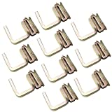 WorldPac (Pack of 10) Heavy Duty E Track 2' Finger Square J Hook Fitting - 3/8' Thickness Finger J Hook Fitting Enclosed Trailer Cargo Management