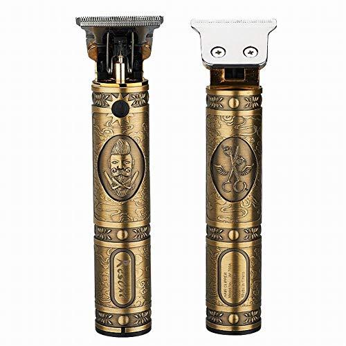 OPSLEA Cortapelos eléctrico, kit de preparación para el cabello recargable inalámbrico Rec ortador de cabello retro para hombres con 4 peines guía