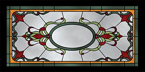 Stained Glass 4 - 2ft x 4ft Drop Ceiling Fluorescent Decorative Ceiling Light Cover Skylight Film