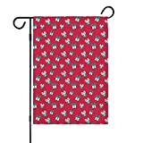 Garden Flag Double Sided Christmas Eve Crackers Claus Spring Summer Yard Outdoor Decorative(Only Flags in The Set)
