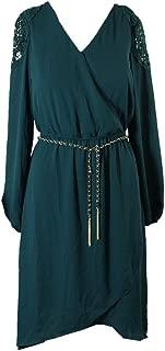 Green Crochet Trimmed High-Low Dress XS