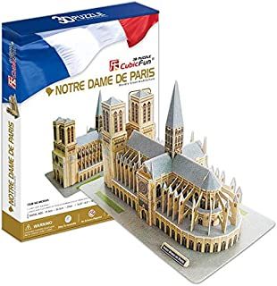 3D three-dimensional jigsaw puzzle world famous architecture Paris Notre Dame hardcover version of five-star difficulty