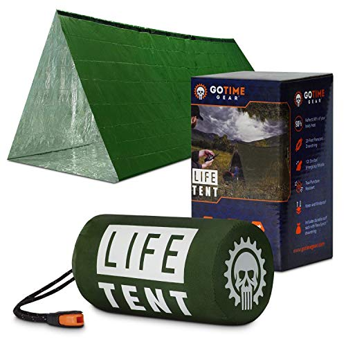 Our #3 Pick is the Go Time Gear Life Tent and Emergency Survival Shelter Survival Gear