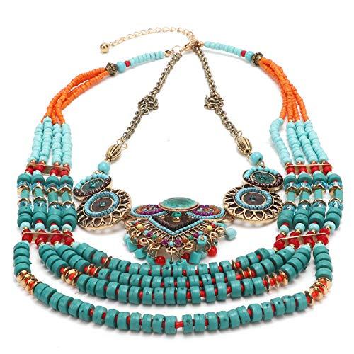 CUEA Handgemaakte parelketting, etnische halsketting, damessieraden, sieraden voor vrouwen meisjes vrouwendag Valentijnsdag