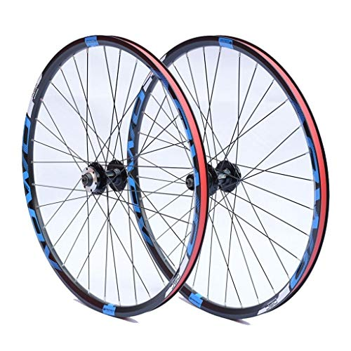 LvTu MTB Juego de Rueda Bicicleta Freno de Disco Rueda Trasera Delantera 26 27.5 29 Pulgadas Pared Doble Llanta Aleación de Aluminio (Size : 27.5 Inches)