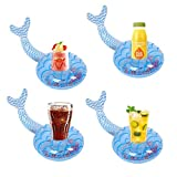 NXYX Aufblasbare Meerjungfrau Schwimmring Pool Float Swimming Ring Baby Pool Float Summer Beach Party mit Getränkebecherhalter für Erwachsene Teenager Kinder (Getränkehalter)