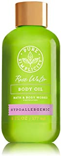 Bath & Body Works - Pure Simplicity – Hypoallergenic - Rose Water - Body Oil. 6 Oz.