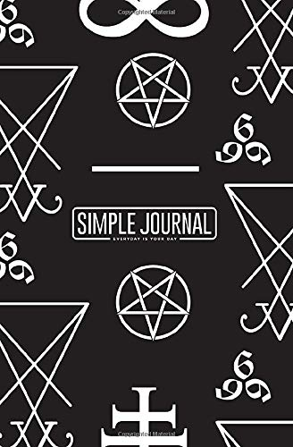Simple journal - Everyday is your day: Seamless pattern with occult symbols Leviathan Cross notebook, Daily Journal, Composition Book Journal, Sketch ... sheets). Dot-grid layout with cream paper.