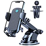 VICSEED Car Phone Holder Mount,[Quick Auto Lock & Sturdy Suction] Phone Mount for Car Air Vent Dashboard Windshield Compatible with iPhone 13 iPhone 12 11 Pro Max Mini Samsung Galaxy S21 Note20 Etc