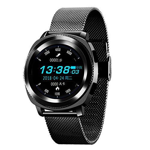2018 Newfashioned Sports Smart Watch, Waterproof Fitness Tracker with Heart Rate Monitor, Milanese Loop Strap Watch, for Birthday Men Women Kids Gift, Compatible with Android and iOS.(Black)