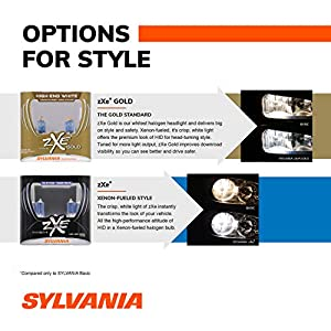 SYLVANIA - H11 (64211) SilverStar zXe High Performance Halogen Headlight Bulb - Headlight & Fog Light, Bright White Light Output, HID Attitude, Xenon Fueled Technology (Contains 2 Bulbs) (H11SZ.PB2)