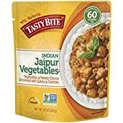 Tasty Bite Indian Entree Jaipur Vegetables 10 Ounce (Pack of 6), Fully Cooked Indian Entrée with Vegetables and Paneer Cheese Simmered with Spices and Cashews, Vegetarian, Gluten Free, Ready to Eat
