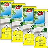 PIC - Trampa de Ventana para Moscas – 4x4=16 Piezas - Trampa de Cola no tóxica e inodora para atrapar Moscas y Moscas de la Fruta
