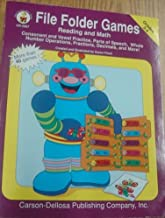File Folder Game Book Grades 3-4: Reading and Math
