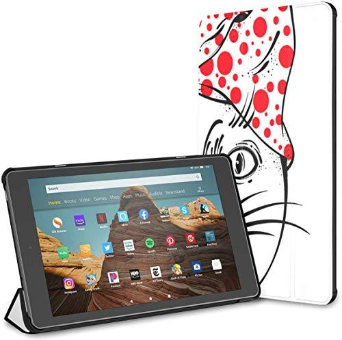 Estuche para Tableta Cat Amulet Tattoo Fire HD 10 (9.a / 7.a generación, versión 2019/2017) Estuche Protector Fire HD 10 Estuche para Kindle para niños Auto Wake/Sleep para Tableta de 10.1 Pulgadas