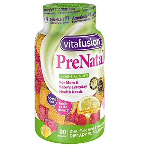 Vitafusion PreNatal Dietary Supplement, Lemon & Raspberry Lemonade Flavors 90 ea (Pack of 5)