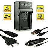 Cargador de Coche Panasonic Bater/ía DMW-BMB9 Cargador Fuente de energ/ía Incl BP-DC9E para Panasonic Lumix DC-FZ82 DMW-BMB9E y Leica Bater/ía BP-DC9