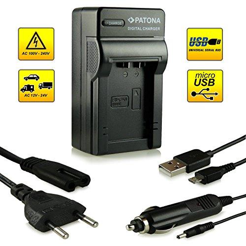 Neuheit - 4in1 Ladegerät mit micro USB Anschluss · 100% kompatibel mit Panasonic DMW-BMB9 E   Leica BP-DC9 E Akkus für Panasonic Lumix DMC-FZ40   DMC-FZ45   DMC-FZ47   DMC-FZ48   DMC-FZ60   DMC-FZ62   DMC-FZ70   DMC-FZ72   DMC-FZ100   DMC-FZ150 - Leica V-LUX 2   V-LUX 3 und weitere…